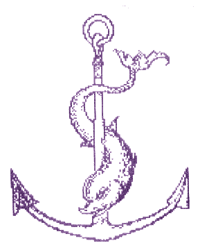 Beta Phi Mu logo - Anchor/Dolphin
